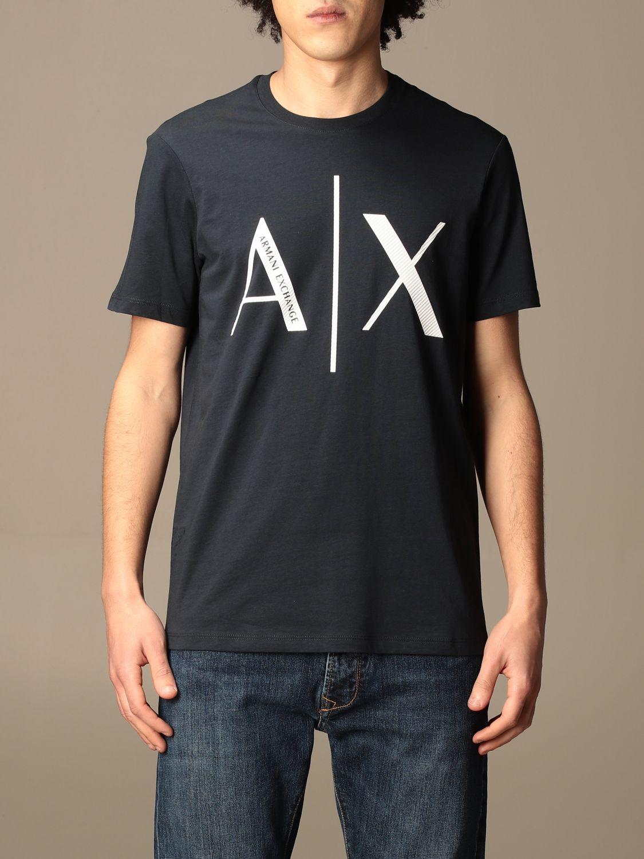 T-shirt Armani Exchange: Armani Exchange basic cotton t-shirt with logo blue 1