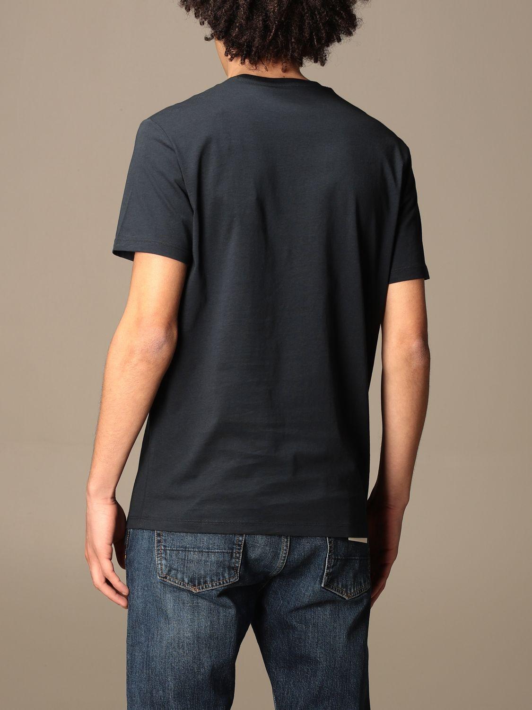 T-shirt Armani Exchange: Armani Exchange basic cotton t-shirt with logo blue 2