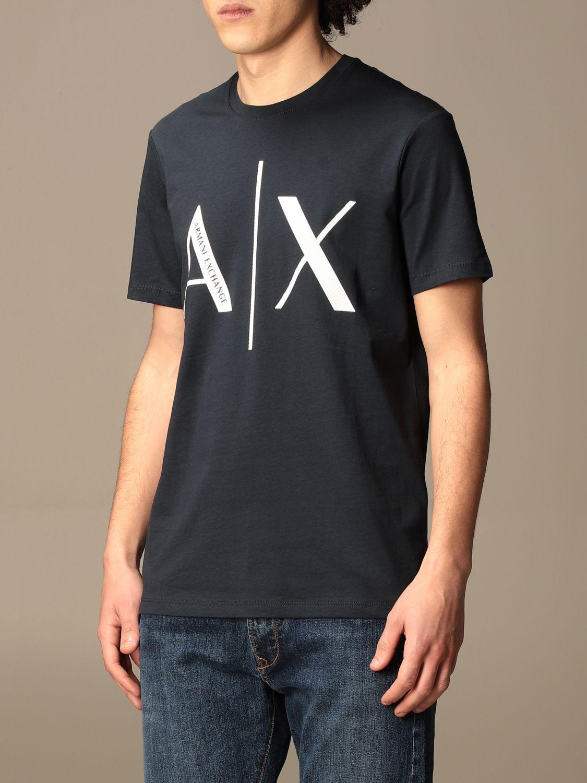 T-shirt Armani Exchange: Armani Exchange basic cotton t-shirt with logo blue 3