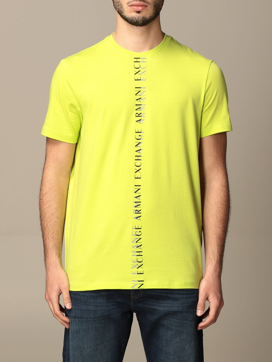 T-shirt Armani Exchange: Armani Exchange T-shirt with logo lime 1