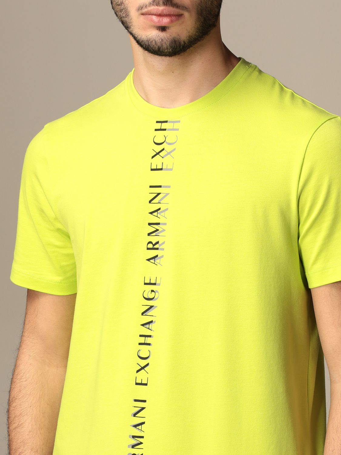 T-shirt Armani Exchange: Armani Exchange T-shirt with logo lime 3