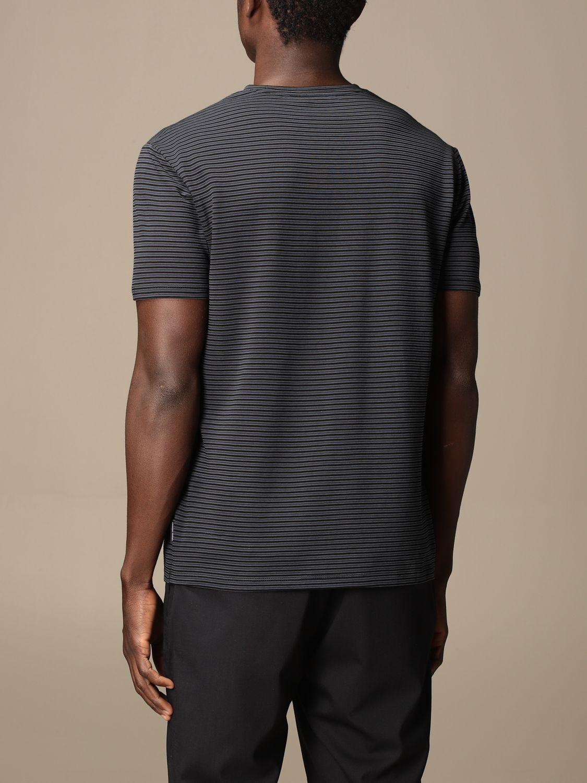 T-shirt Armani Exchange: Half sleeve crew neck lines with logo blue 2