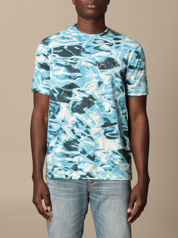 T-shirt Armani Exchange: T-shirt men Armani Exchange gnawed blue 1