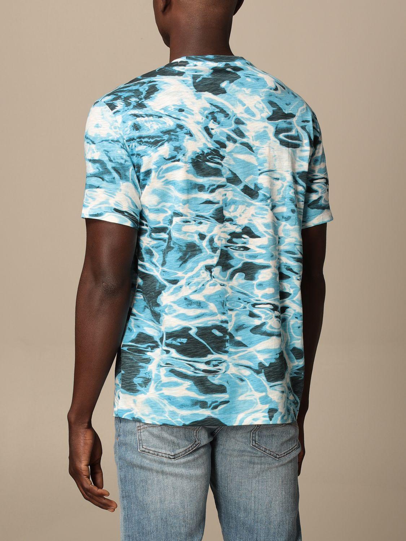 T-shirt Armani Exchange: T-shirt men Armani Exchange gnawed blue 2