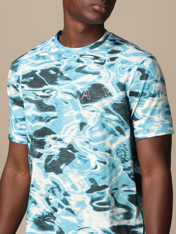 T-shirt Armani Exchange: T-shirt men Armani Exchange gnawed blue 3