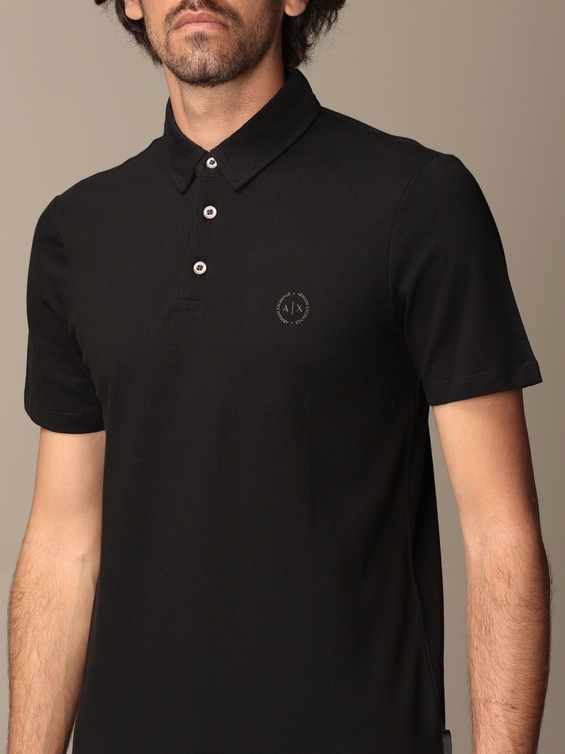 Polo shirt Armani Exchange: Polo shirt men Armani Exchange black 3