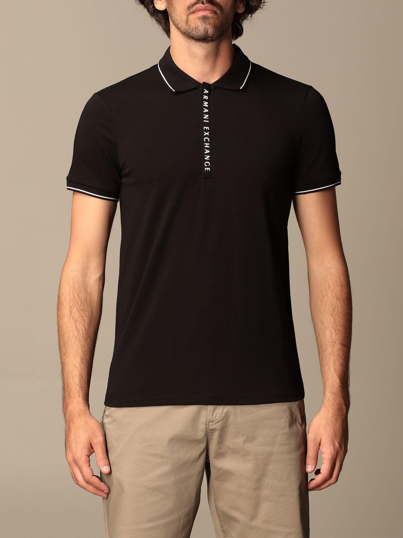 Polo shirt Armani Exchange: Polo shirt men Armani Exchange black 1
