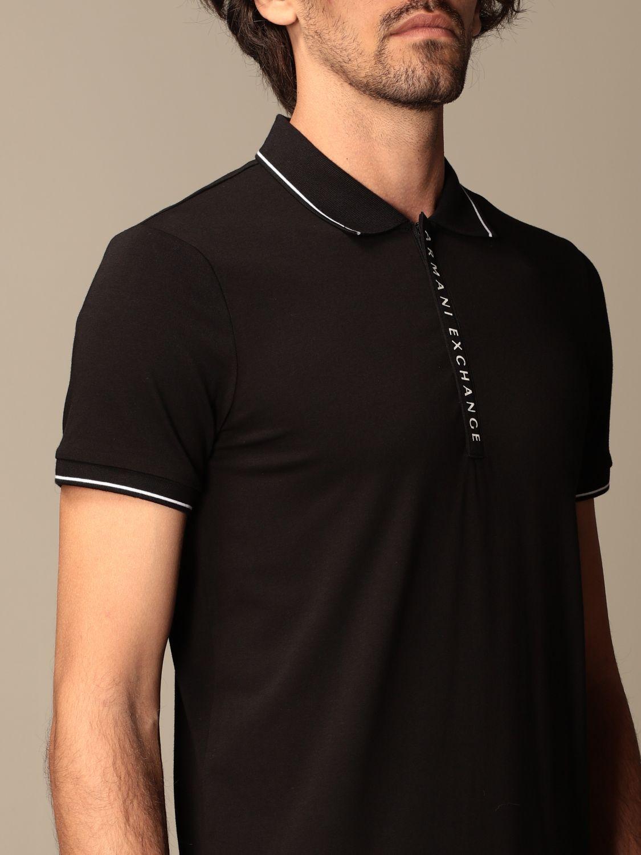 Polo shirt Armani Exchange: Polo shirt men Armani Exchange black 3