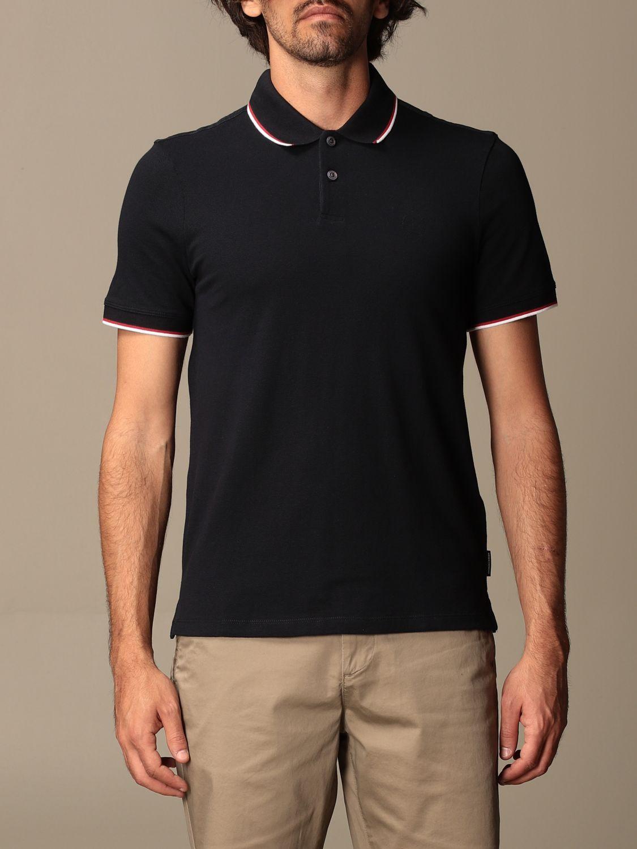 Polo shirt Armani Exchange: Armani Exchange cotton polo shirt with logo blue 1