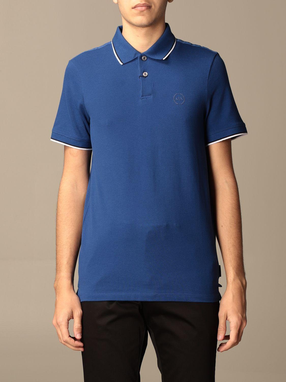 Polo Armani Exchange: Polo homme Armani Exchange bleu royal 1