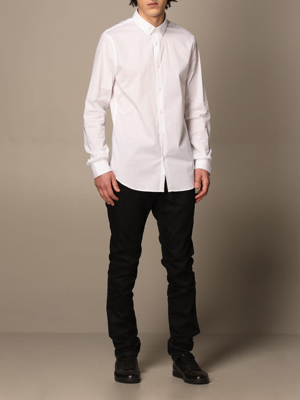 Shirt Armani Exchange: Armani Exchange shirt in stretch poplin white 2