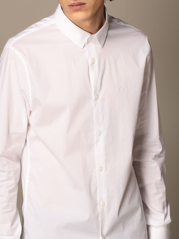 Shirt Armani Exchange: Armani Exchange shirt in stretch poplin white 4