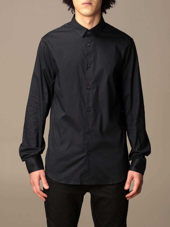 Shirt Armani Exchange: Armani Exchange shirt in stretch poplin blue 1