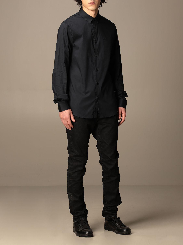 Shirt Armani Exchange: Armani Exchange shirt in stretch poplin blue 2