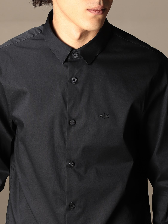 Shirt Armani Exchange: Armani Exchange shirt in stretch poplin blue 4