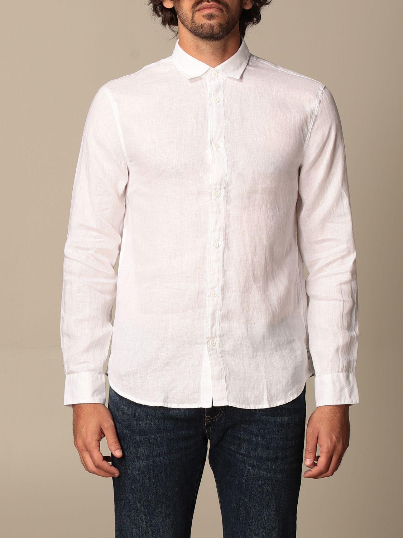 Camicia Armani Exchange: Camicia Armani Exchange in lino bianco 1