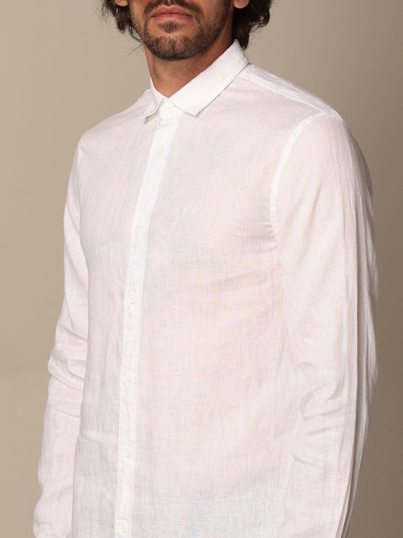 Camicia Armani Exchange: Camicia Armani Exchange in lino bianco 3
