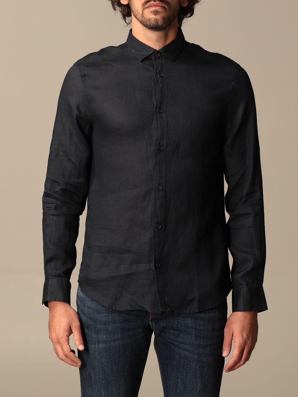 Рубашка Armani Exchange: Рубашка Мужское Armani Exchange синий 1