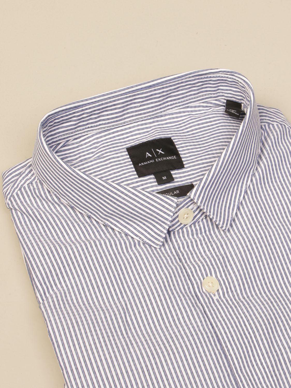 Shirt Armani Exchange: Armani Exchange shirt in striped cotton poplin blue 2