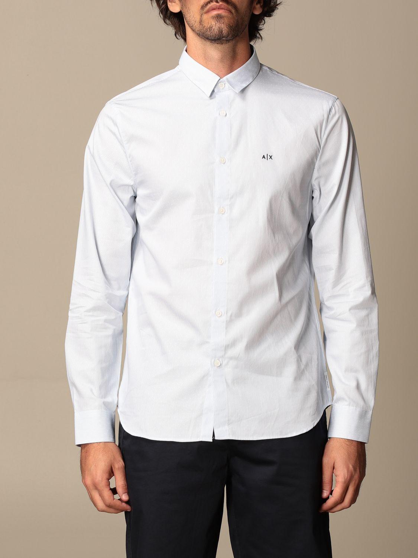 Shirt Armani Exchange: Armani Exchange cotton poplin shirt sky blue 1