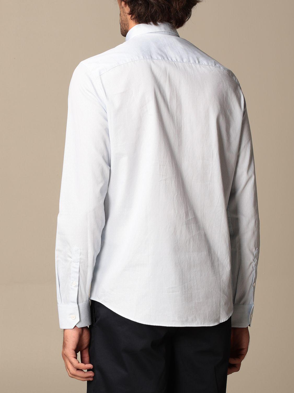 Shirt Armani Exchange: Armani Exchange cotton poplin shirt sky blue 2