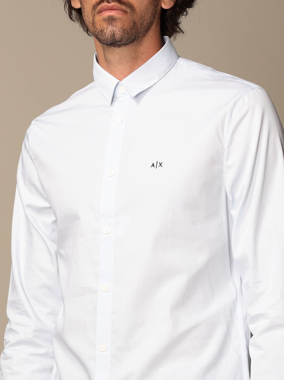 Shirt Armani Exchange: Armani Exchange cotton poplin shirt sky blue 3
