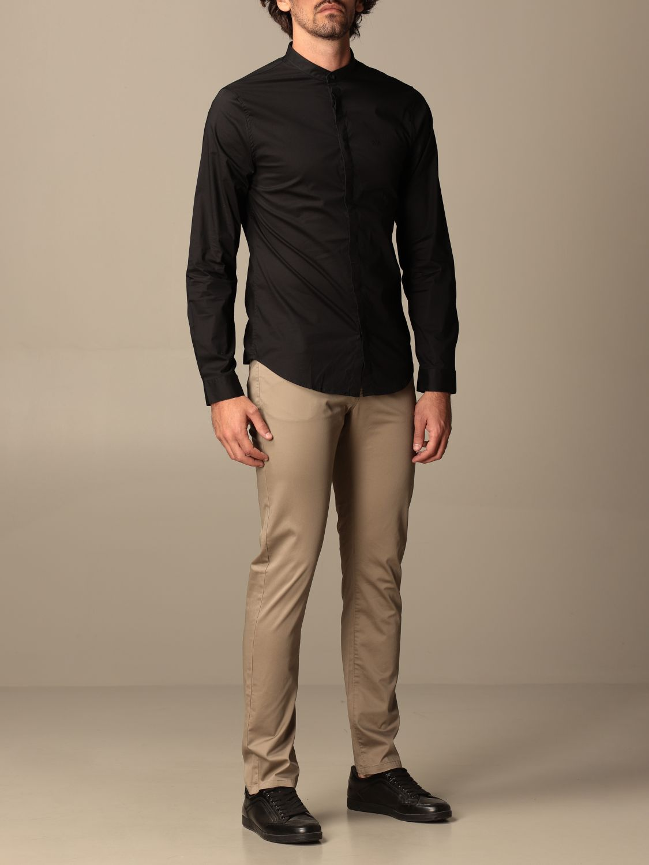 Camicia Armani Exchange: Camicia Armani Exchange in cotone stretch nero 1