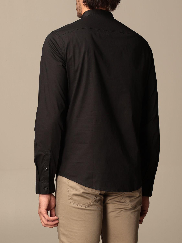 Camicia Armani Exchange: Camicia Armani Exchange in cotone stretch nero 2