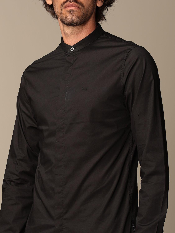 Camicia Armani Exchange: Camicia Armani Exchange in cotone stretch nero 3