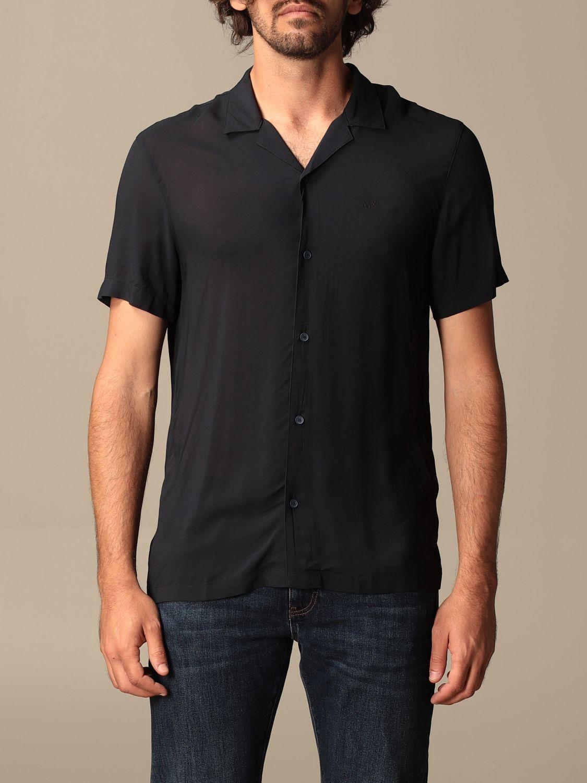 Shirt Armani Exchange: Armani Exchange viscose shirt blue 1