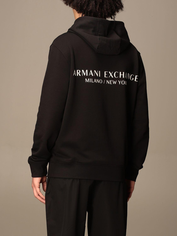 Felpa Armani Exchange: Felpa Armani Exchange in cotone con logo nero 2