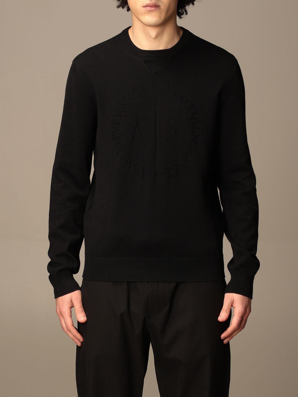 Sweater Armani Exchange: Armani Exchange cotton crewneck sweater black 1