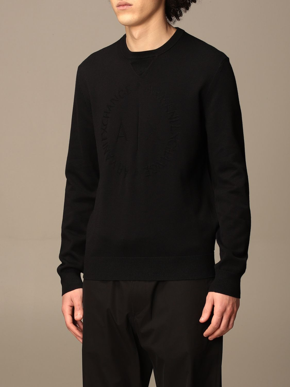 Sweater Armani Exchange: Armani Exchange cotton crewneck sweater black 3