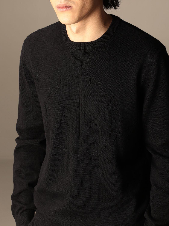 Sweater Armani Exchange: Armani Exchange cotton crewneck sweater black 4