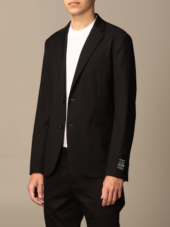 Blazer Armani Exchange: Blazer men Armani Exchange black 4