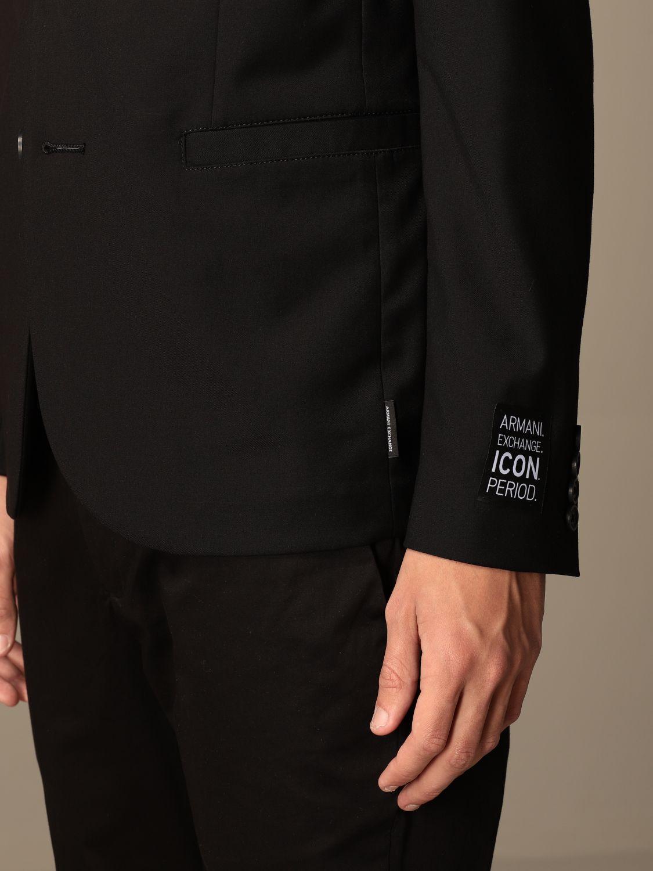 Blazer Armani Exchange: Blazer men Armani Exchange black 5