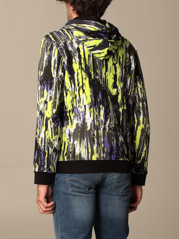 Sweatshirt Armani Exchange: Armani Exchange hoodie in printed cotton lime 2