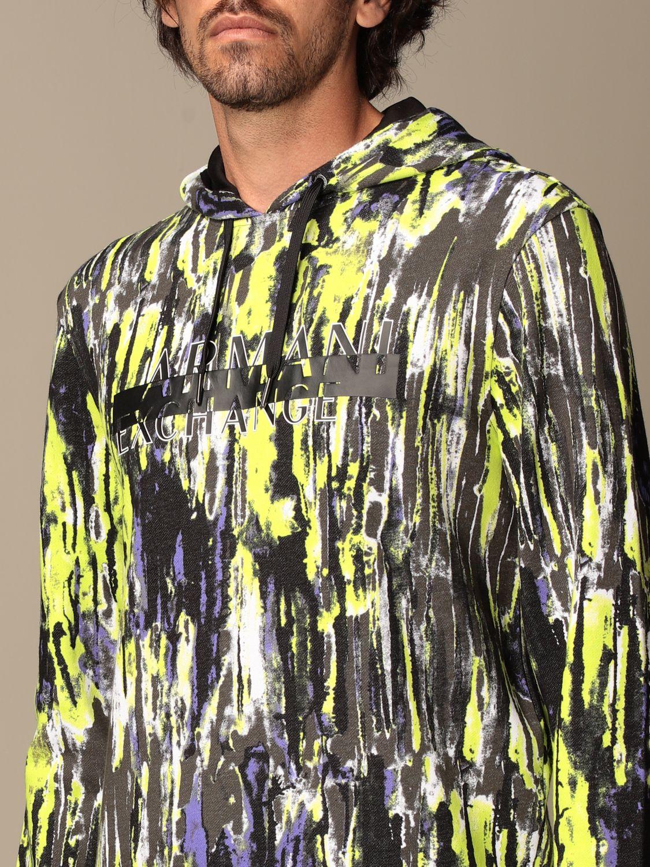 Sweatshirt Armani Exchange: Armani Exchange hoodie in printed cotton lime 3