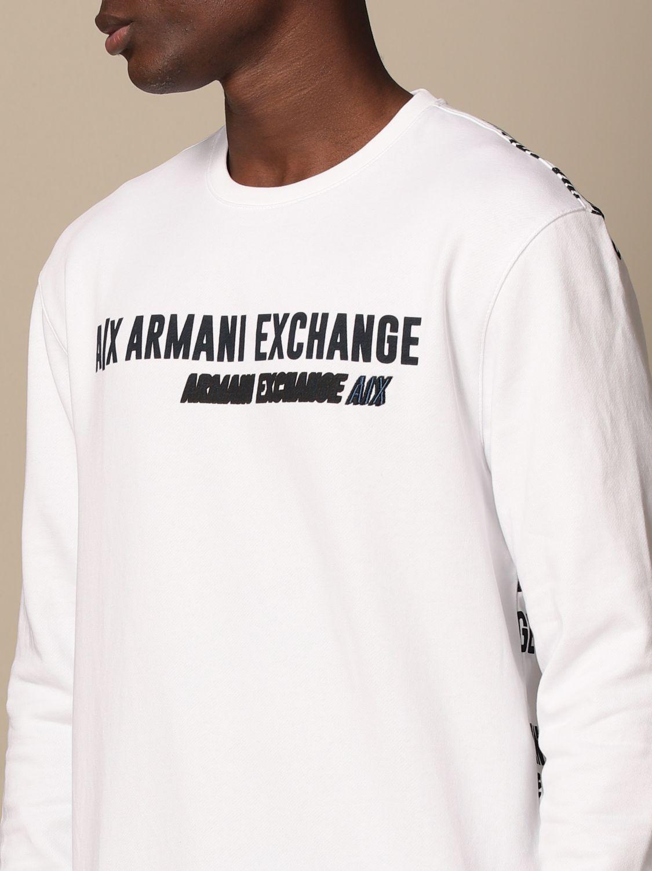 Sweatshirt Armani Exchange: Armani Exchange crewneck sweatshirt with logo white 3