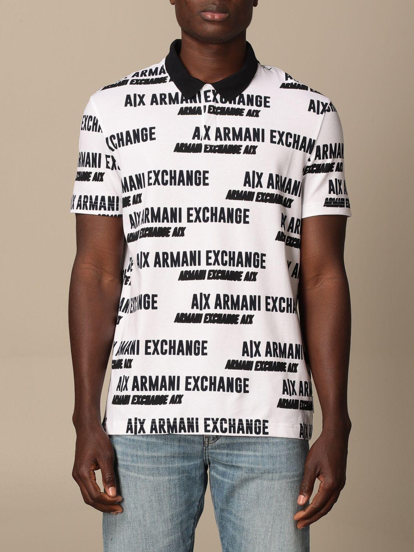 Polo shirt Armani Exchange: Armani Exchange cotton polo shirt with logo white 1