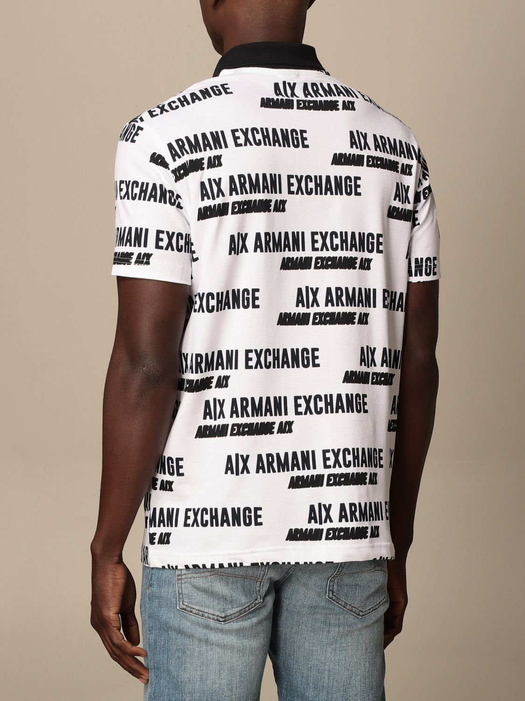 Polo shirt Armani Exchange: Armani Exchange cotton polo shirt with logo white 2