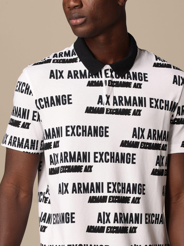 Polo shirt Armani Exchange: Armani Exchange cotton polo shirt with logo white 3