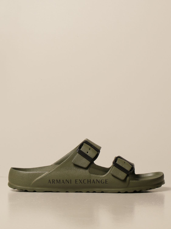 Sandali Armani Exchange: Sandalo Armani Exchange in gomma militare 1