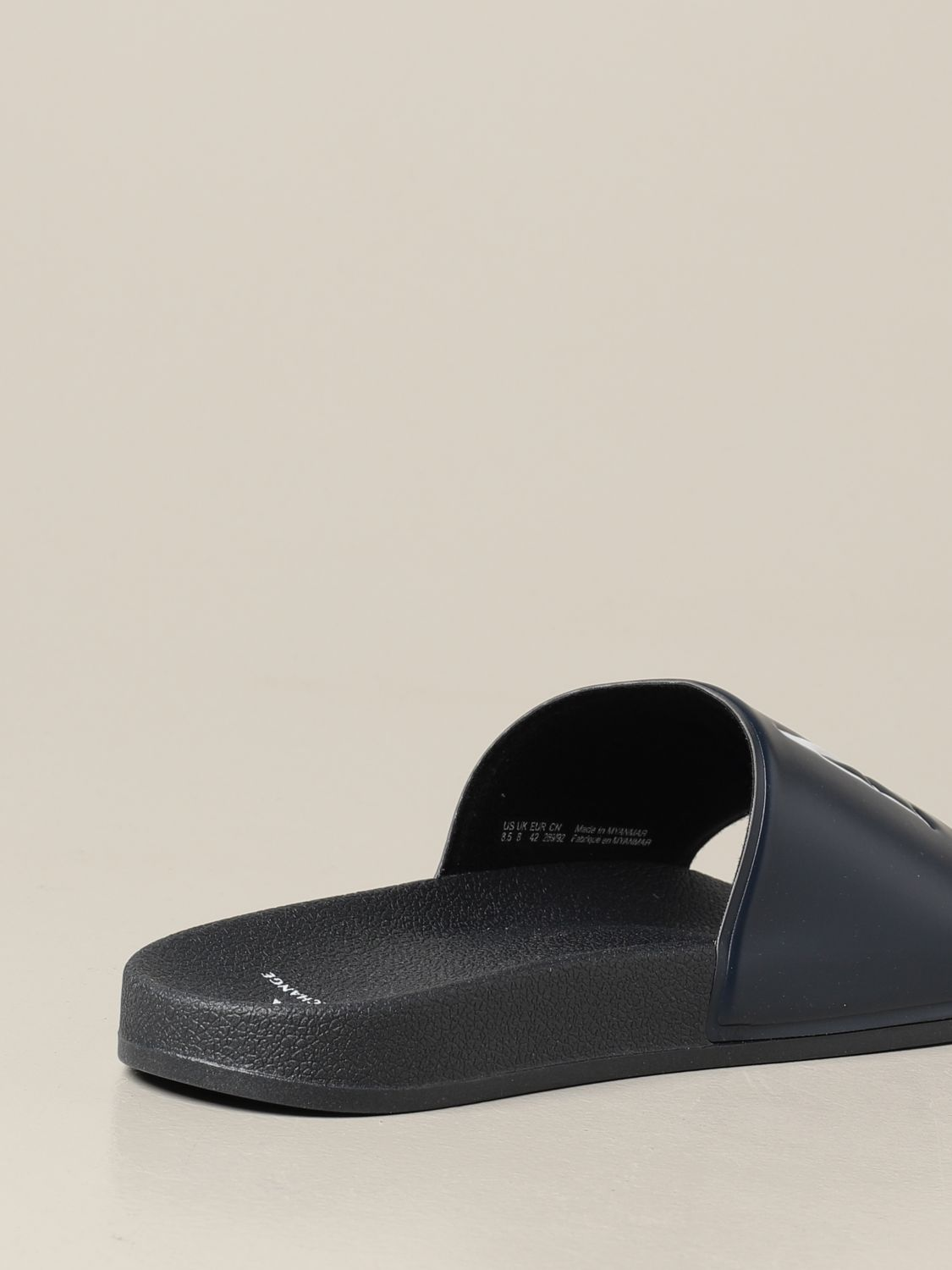 Sandals Armani Exchange: Armani Exchange slipper sandals in rubber with logo blue 3