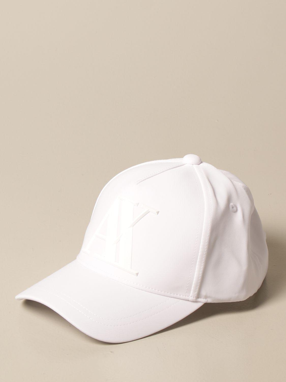 Hat Armani Exchange: Armani Exchange baseball cap with big logo white 1