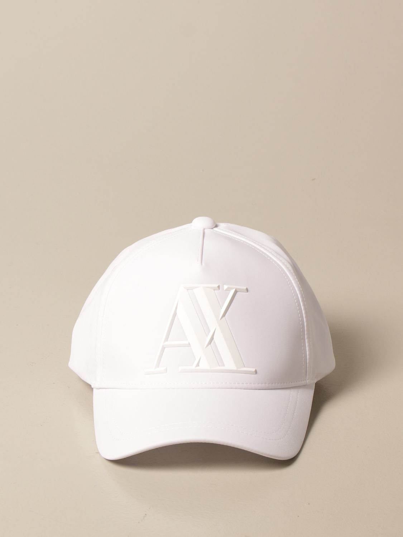Hat Armani Exchange: Armani Exchange baseball cap with big logo white 2