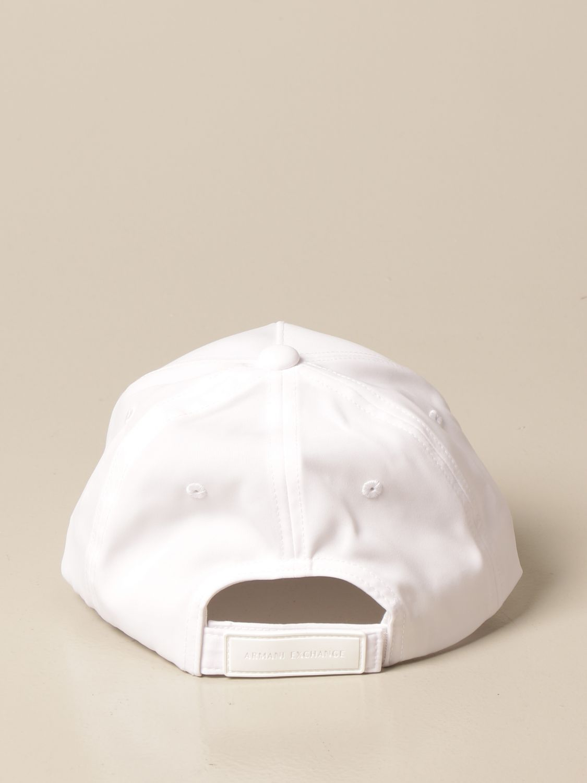 Hat Armani Exchange: Armani Exchange baseball cap with big logo white 3