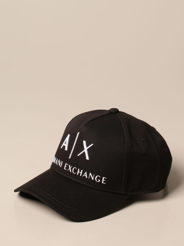 Cappello Armani Exchange: Cappello da baseball Armani Exchange con logo nero 1 1
