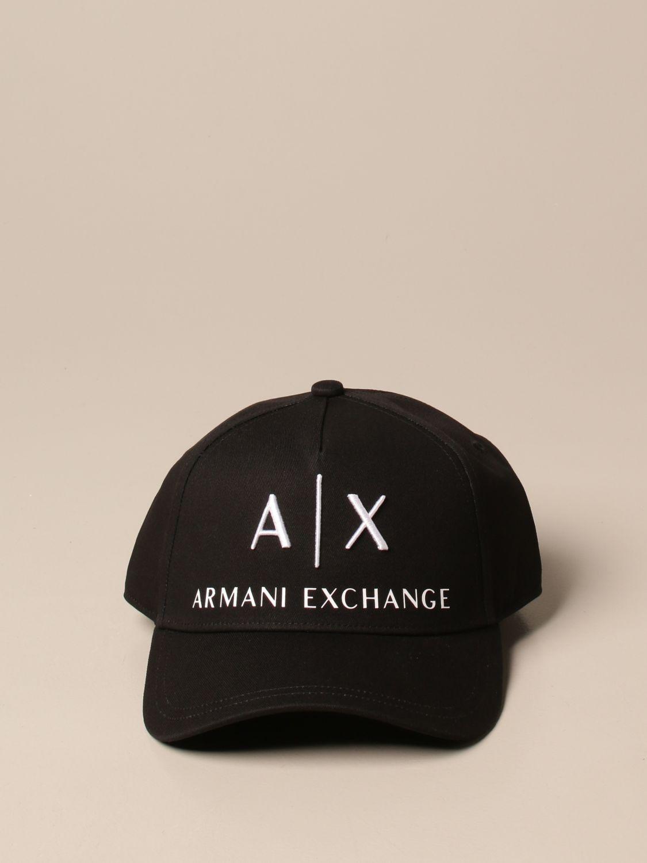 Hat Armani Exchange: Armani Exchange baseball cap with logo black 2