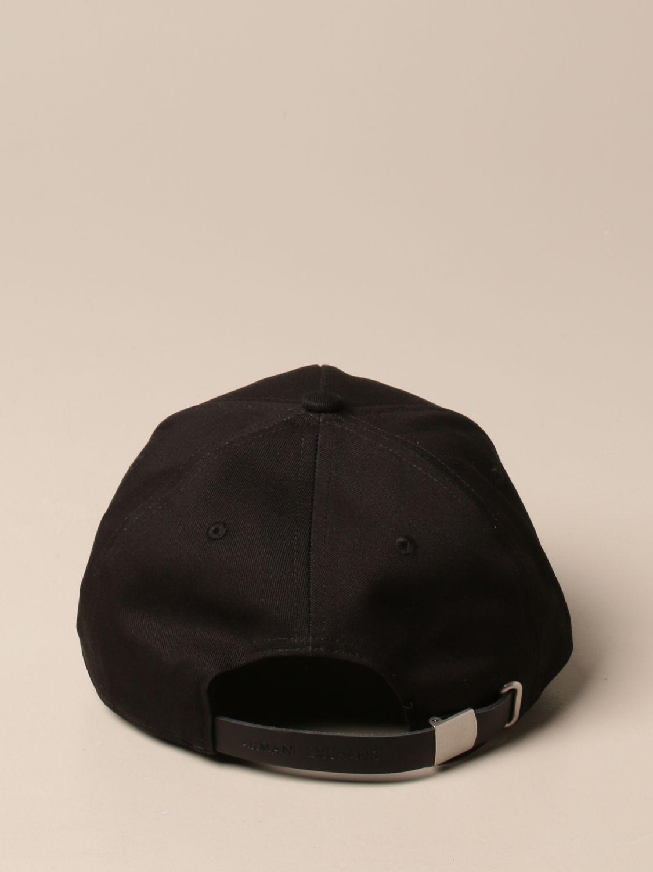 Hat Armani Exchange: Armani Exchange baseball cap with logo black 3